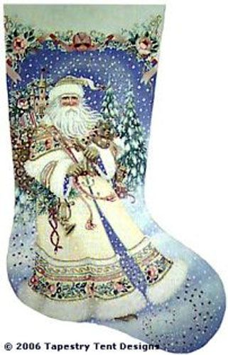 magic santa needlepoint stocking