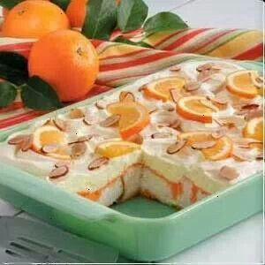 Orange anfel food cake