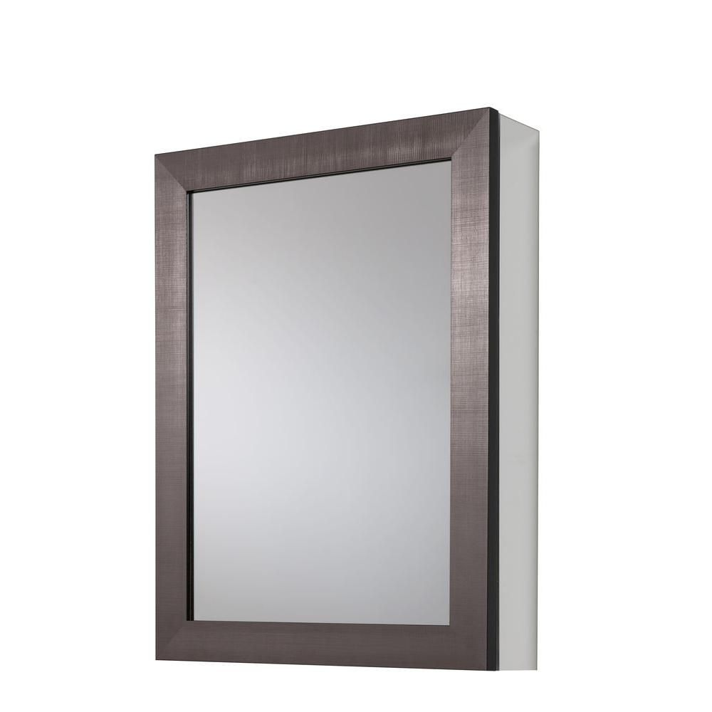 Glacier Bay 20 in. x 26 in Framed Aluminum Recessed or Surface-Mount ...
