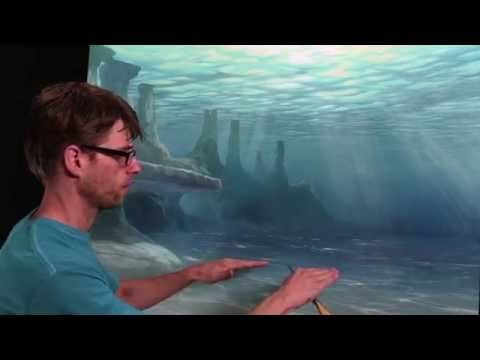 How To Paint Underwater Sea Floor Underwater Painting Art Painting Oil Acrylic Painting Techniques