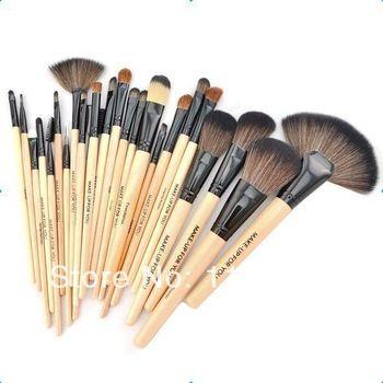 Professional 24 maquiagem escova ferramentas Make-up Kit de Higiene Pessoal Lã Marca Maquiagem escova Caso frete grátis