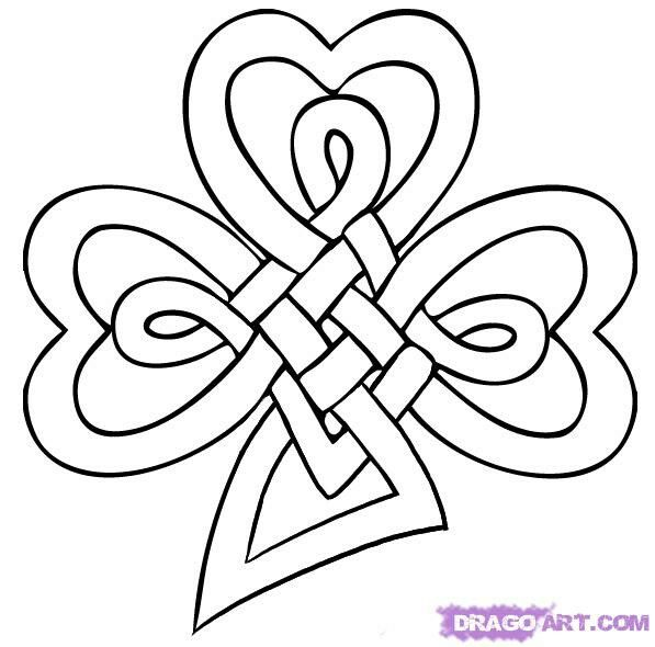 Shamrock of a celtic knot | Bricolaje y manualidades | Pinterest ...