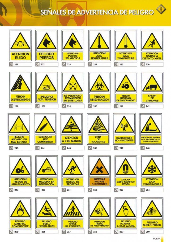 Señales de advertencia de peligro. | MANUALES | Pinterest | Señales ...