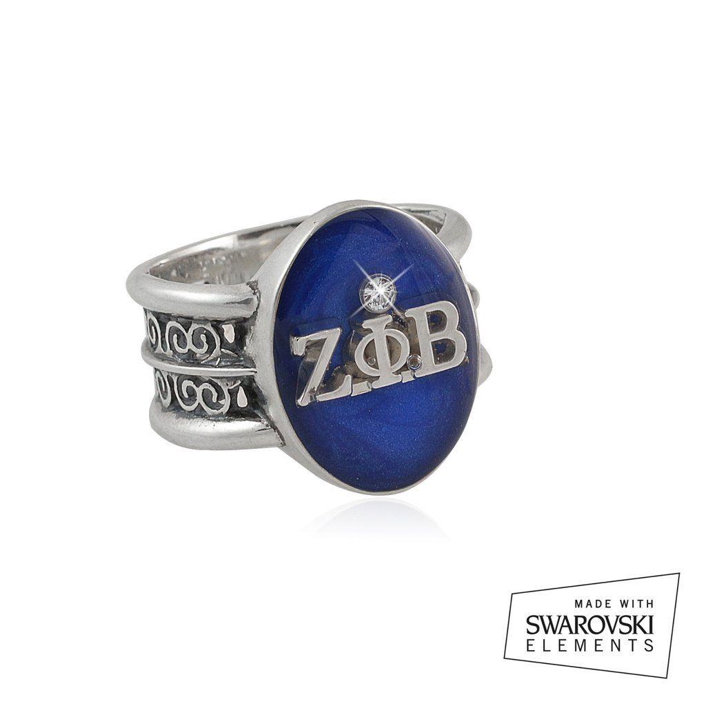 Zeta phi beta swarovski rio collection silver ring zeta phi zeta phi beta swarovski rio collection silver ring buycottarizona