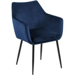 Photo of Armchair velvet | Upholstered chair blue – Mona