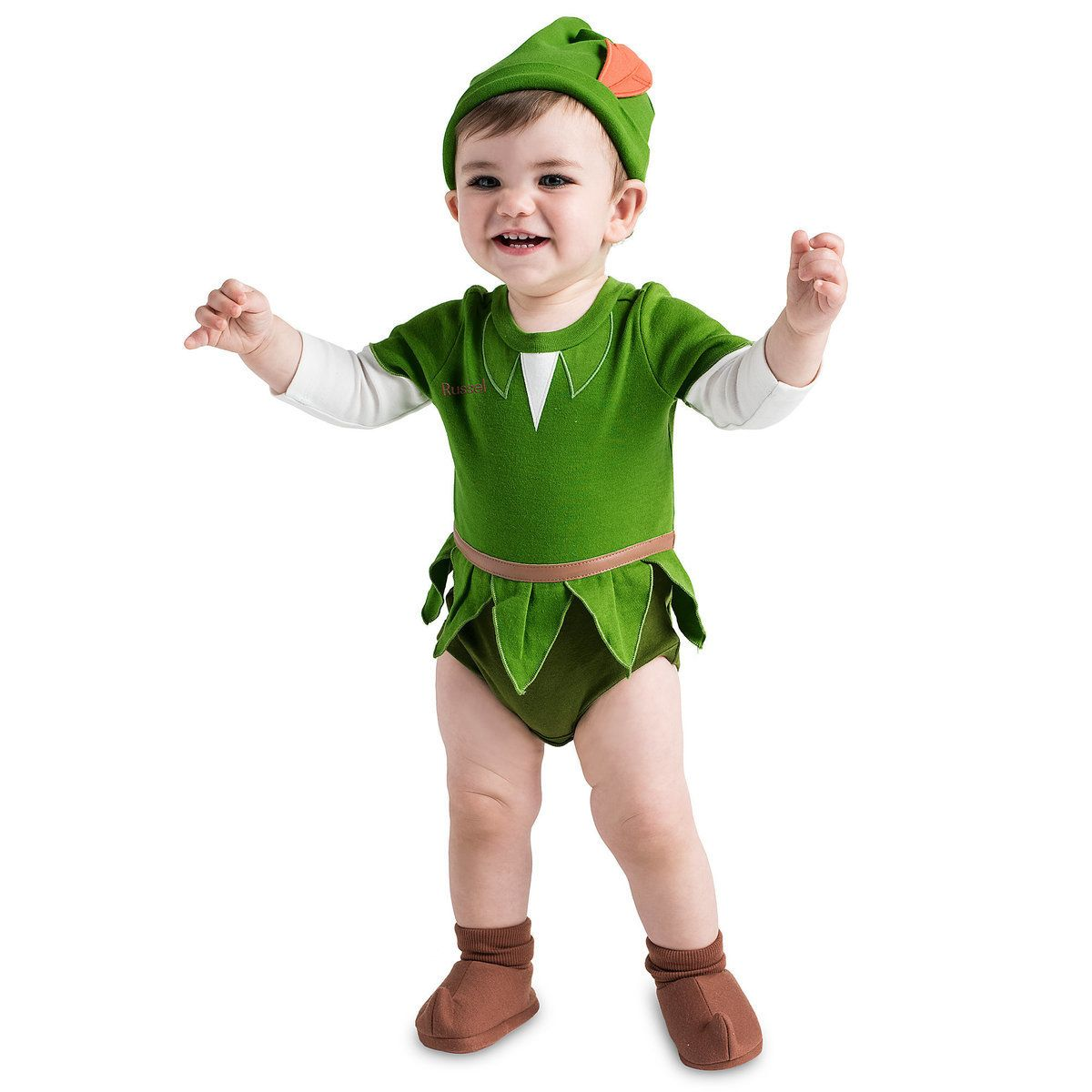 Marvelous Peter Pan Costume Bodysuit For Baby   Personalizable