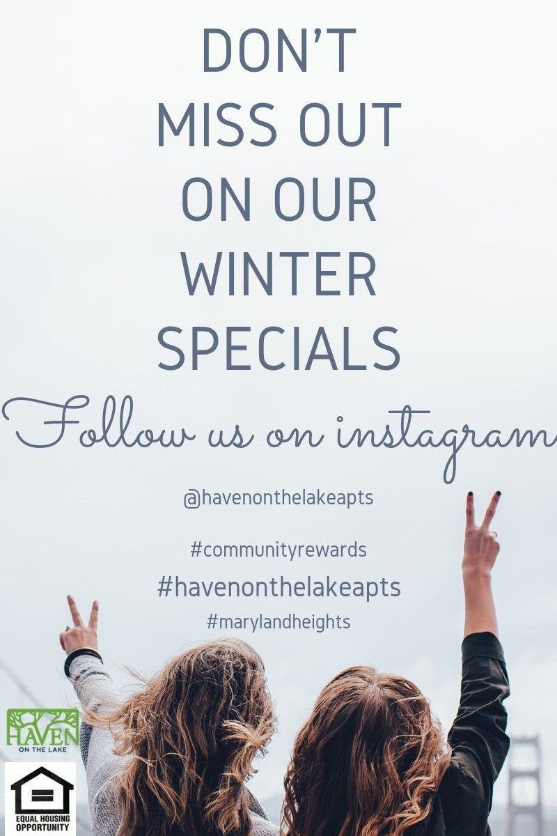 Follow Us On Instagram For More Information About Our Winter Specials Maryland Heights Lake 3 Bedroom Floor Plan