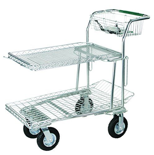 Tierra Garden 35236 Heavy Duty Zincplated Large Utility Cart With 8 Pneumatic Wheels Learn More By Visiting The Image Outdoor Cart Zinc Plating Utility Cart