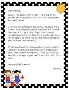 Image Result For End Of Year Letter To Upper Elementary Students