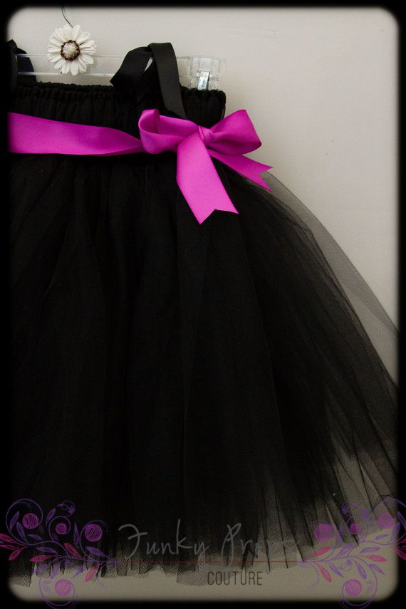 Black super fluff tulle tutu dress with any by FunkyPropsCouture, $52.00
