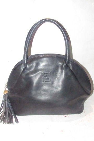 ef946d1972e33e Fendi Early Purse Bucket/Satchel Style Leather/Gold Pasta Line Mint  Condition Satchel in