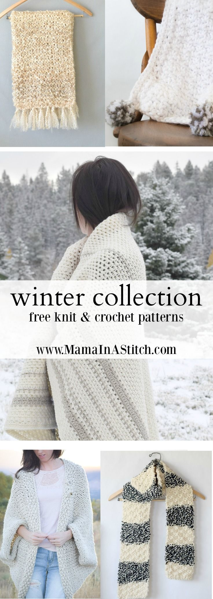 Free, easy knit and crochet patterns from the Full Winter Collection ...