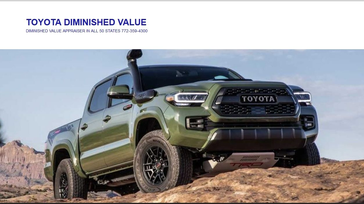 Toyota New Car Diminished Value Appraiser in 2020 Toyota