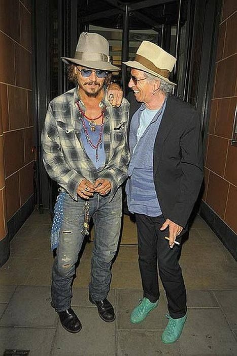 Johnny Depp and Keith Richards in London