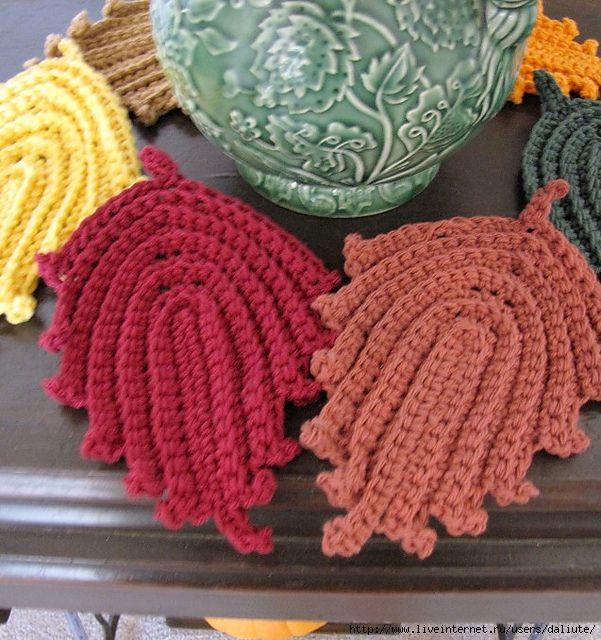 Delicadezas en crochet Gabriela: Hojas | Pequeños detalles tejidos ...