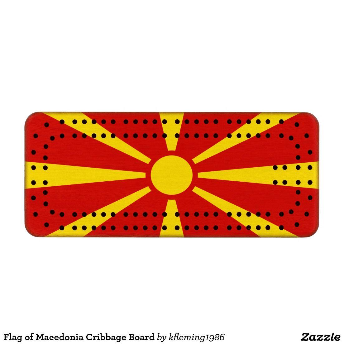 Flag of Macedonia Cribbage Board | Flags
