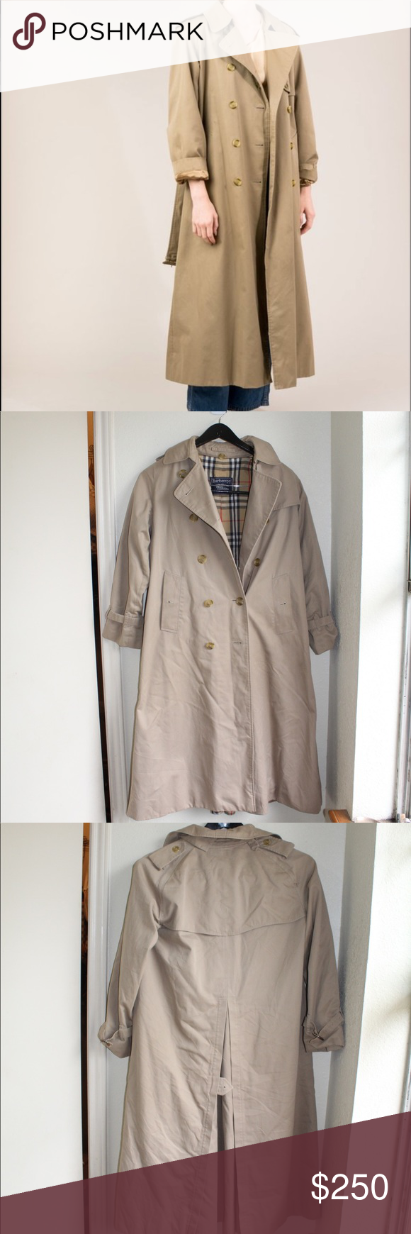 New Listing Burberry Vtg Trench Coat Pre Owned Vintage Burberry Trench Coat Fits A Medium It S An Over Si Trench Coat Clothes Design Burberry Trench Coat