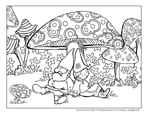 Chroma Tome The Garden Gnomes Free Coloring Pages Coloring