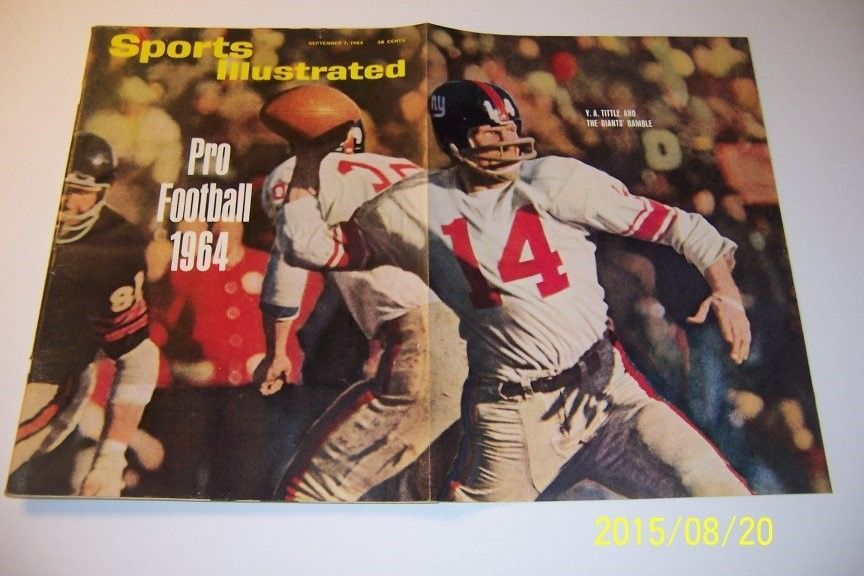 1964 Sports Illustrated NEW YORK Giants YA TITTLE No Label