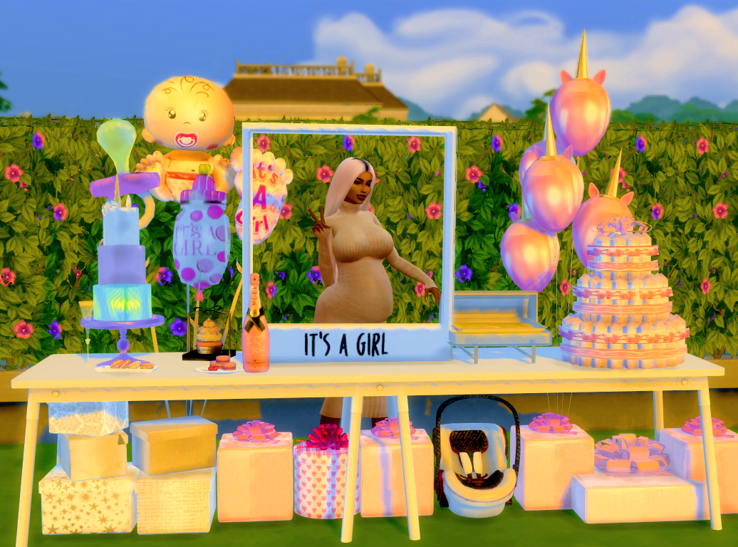 Xmiramira S Cc Finds Thedunlaps Baby Shower Pack I Made 3 This Is Sims Baby Sims 4 Toddler The Sims 4 Packs