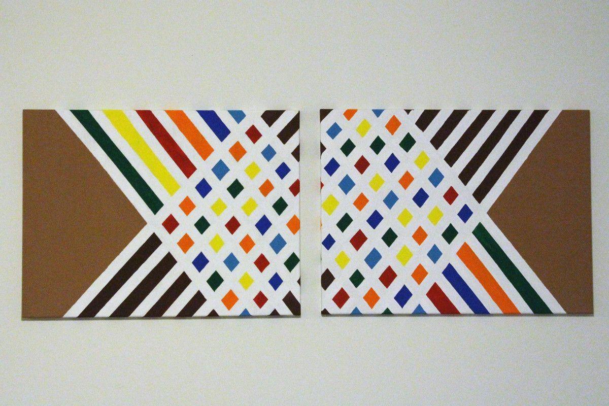 Diy Canvas Paint Geometric Art Diy Diy Canvas Art Tape Art