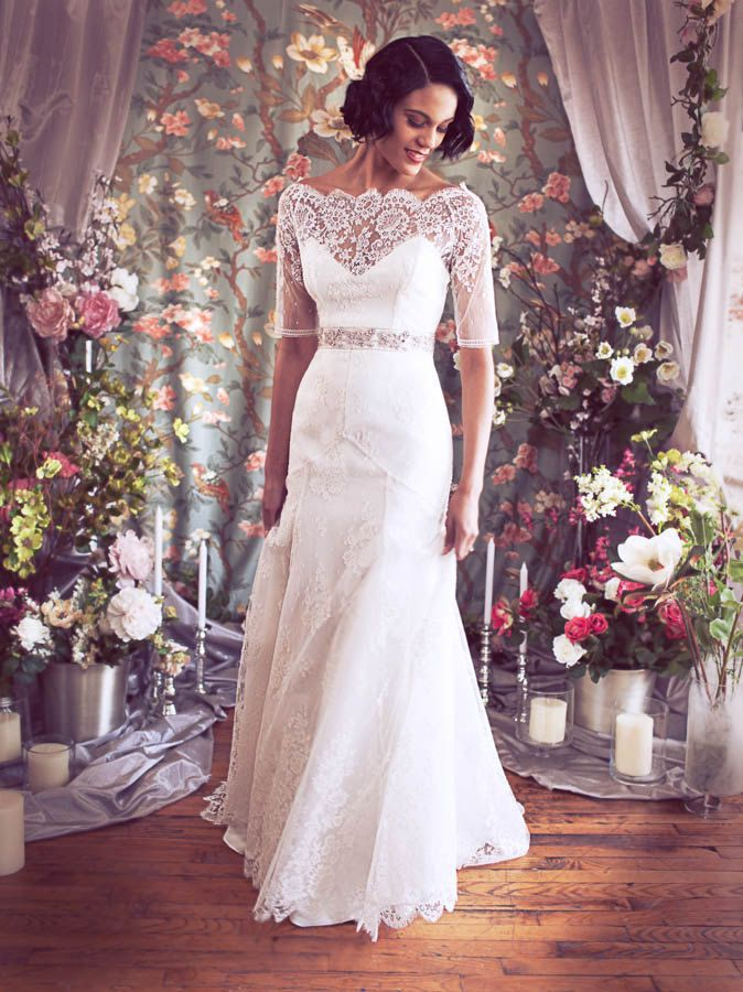 Absolutely Stunning 3/4 Sleeve Off the Shoulder French Lace and ...