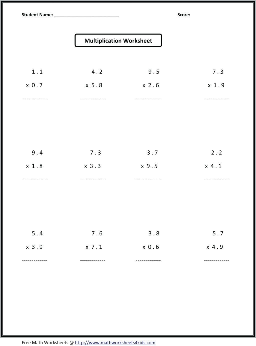 5th Grade Division Worksheet Long Division Worksheets 5th