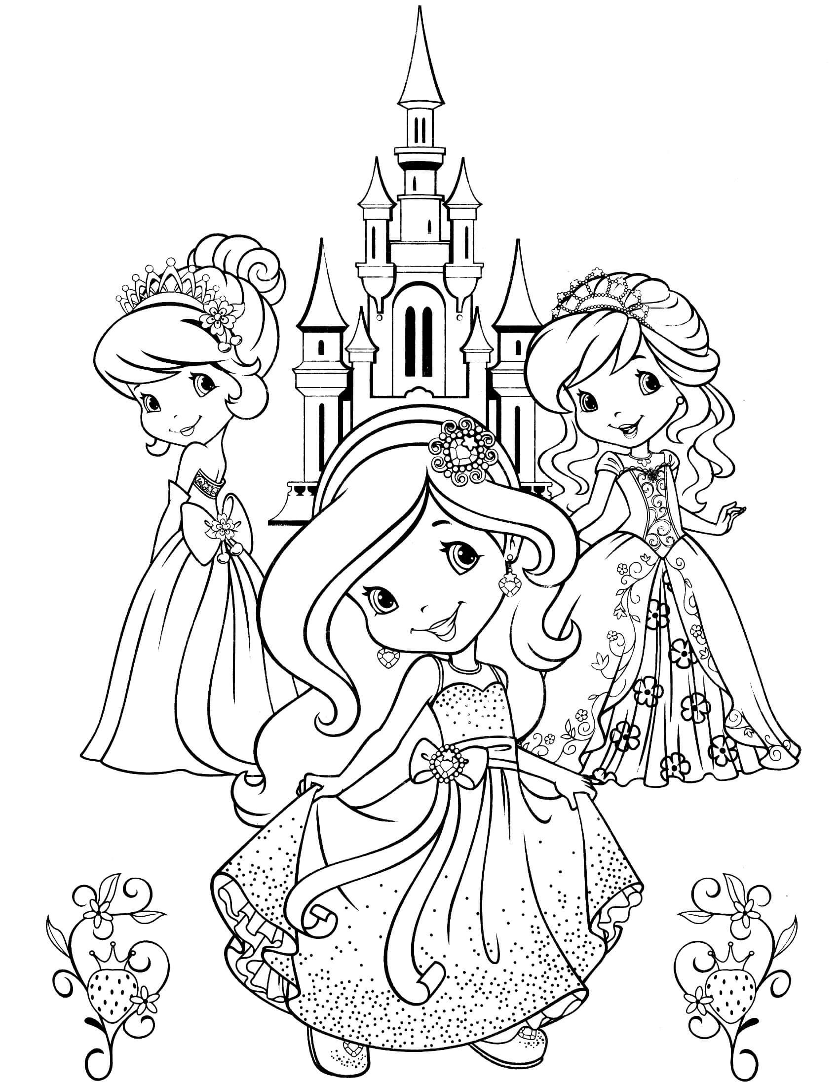strawberry shortcake coloring page | sssd | Strawberry