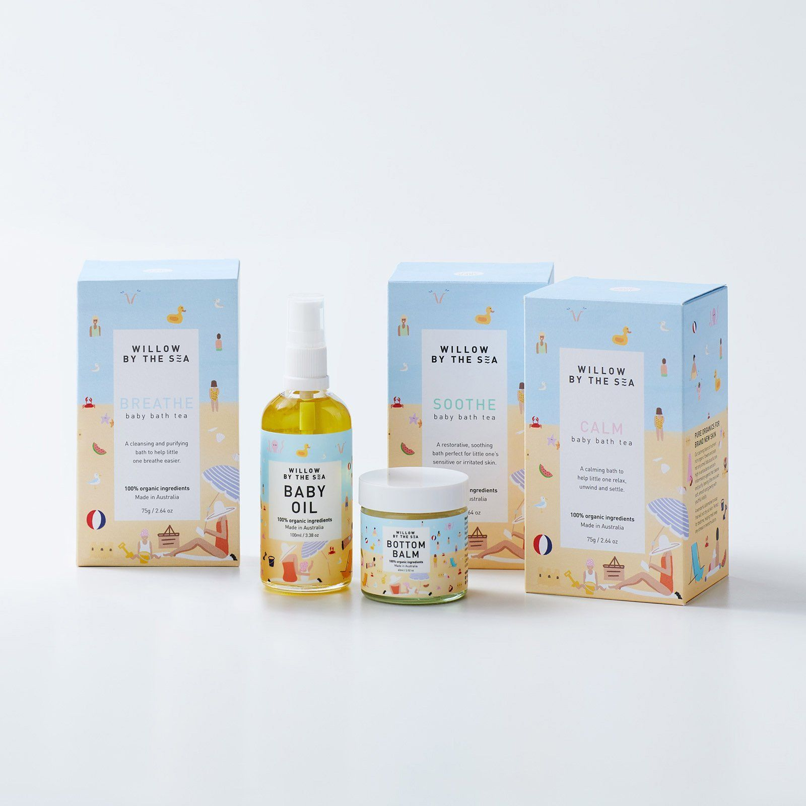 Product Packaging Design Set In 2020 Organic Baby Skincare Baby Skin Care Skin Care Packaging
