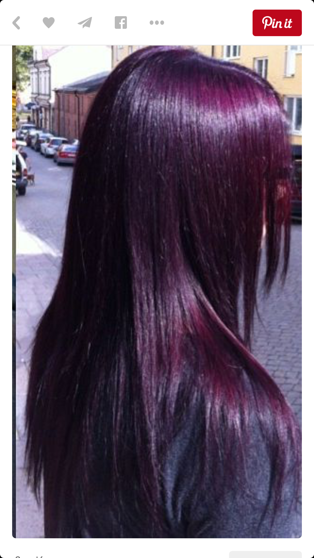 Eggplant Purple So Almost Black Hair Colorz In 2018 Pinterest