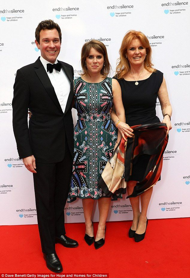Fergie attends charity gala with Eugenie and her boyfriend