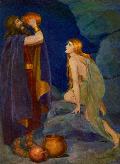 """Odin drinks the magic mead"" by Katharine Pyle (1863-1938)"