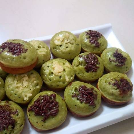 Resep Kue Cubit Green Tea Matcha Empuk Foto Oleh Tintin Rayner Resep Resep Kue Resep Kue