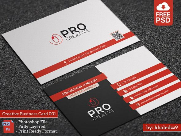 50 Best Free Psd Business Card Templates For Commercial Use