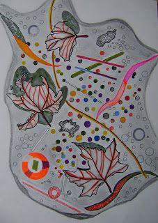 ARTES, DESARTES E DESASTRES CONTEMPORÂNEOS.: Junho - Julho de 2011 Folias de outono Técnica mista: Guache e caneta hidrocor sobre papel
