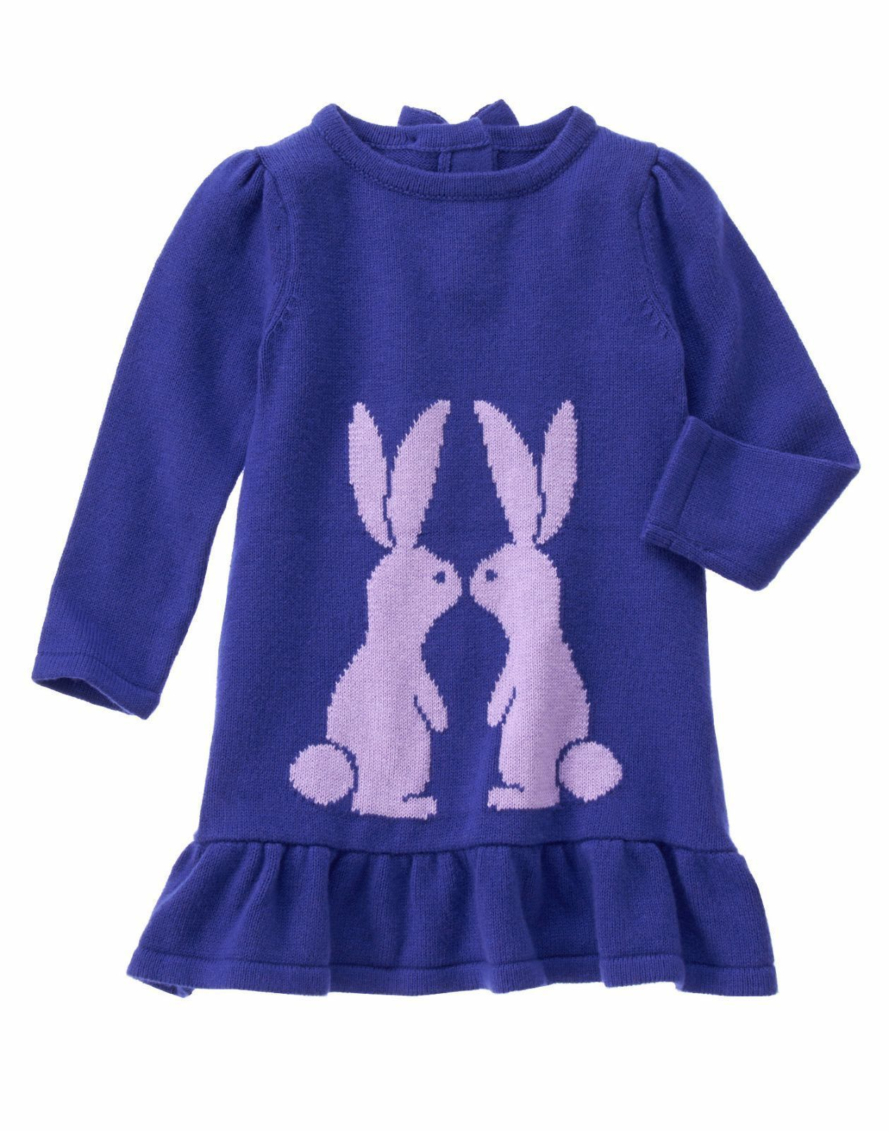 8b0671f27 GYMBOREE Baby Girls Purple Easter Bunny Rabbit Long Sleeve Sweater ...