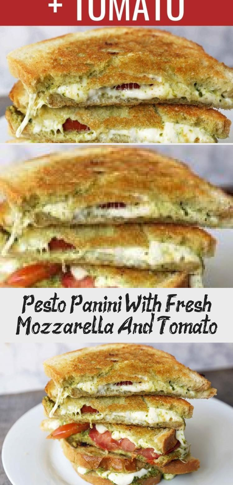 Pesto Panini With Fresh Mozzarella And Tomato Pesto Panini with Fresh Mozzarella and Tomato A toasted buttery panini with basil pesto melted fresh mozzarella cheese and j...