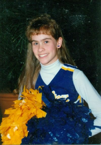 90s cheerleader + 90s bangs