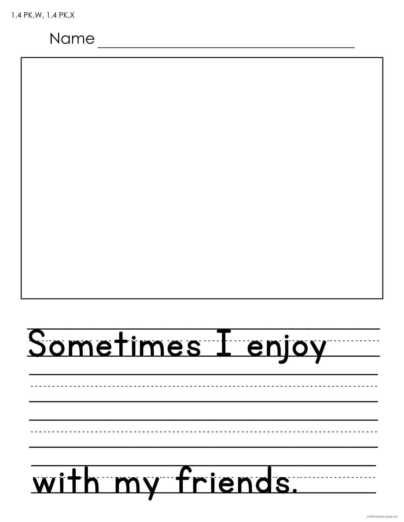 These 5 Free Worksheets Feature Room For Both Drawing And Writing Each Worksheet Has O Writing Prompts Funny Free Writing Prompts Kindergarten Writing Prompts Free printable writing worksheets for 5