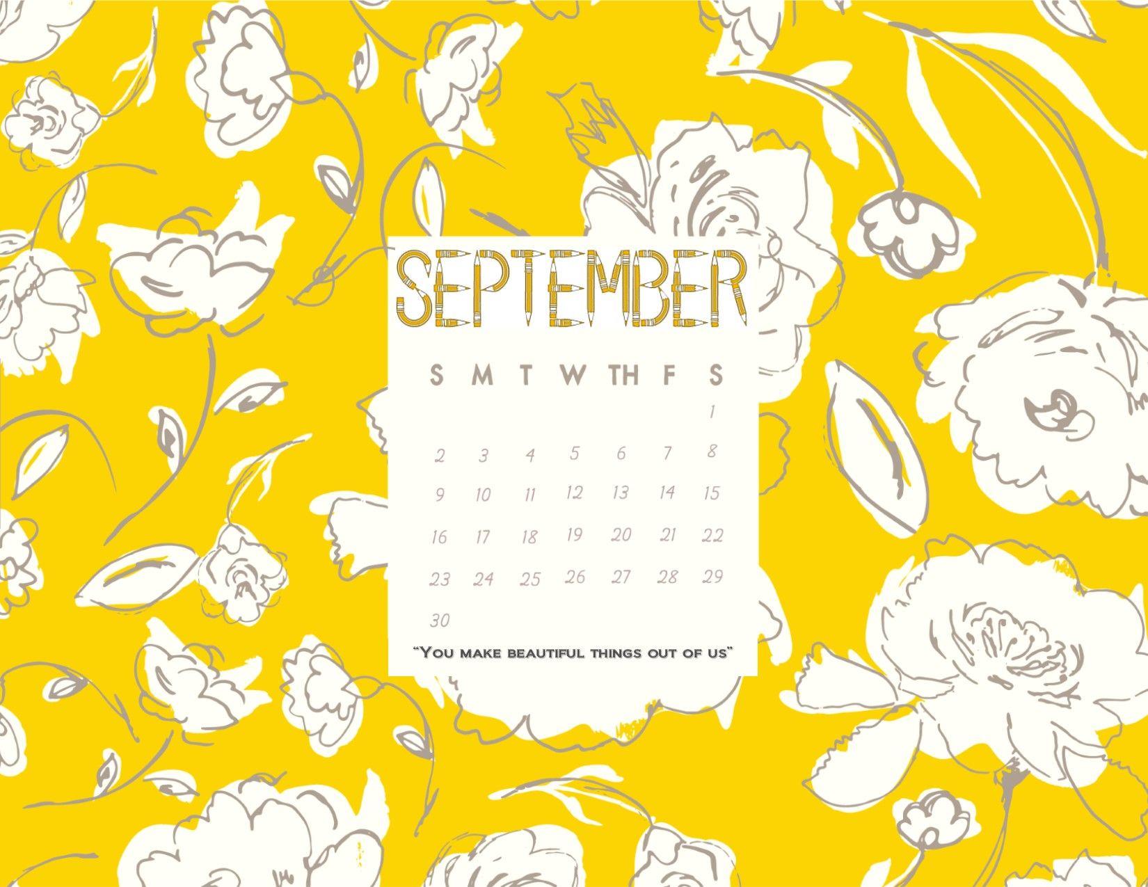 Desktop Calendar Wallpaper Creator : September 2018 desktop calendar wallpaper you make beautiful things