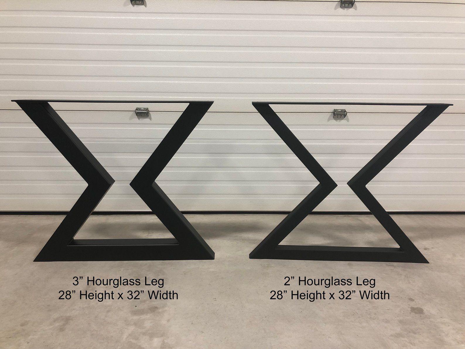 Hour Glass Table Legs Metal Table Legs Metal Legs Diy Bench