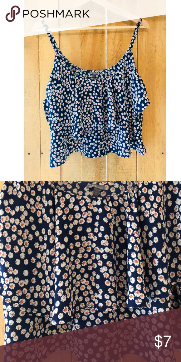 72e17bc6652971 Charlotte Russe Floral crop top Navy blue with floral print Flowy crop top  Excellent condition Dimensions  Length  12in Busy  28in Charlotte Russe Tops  Crop ...