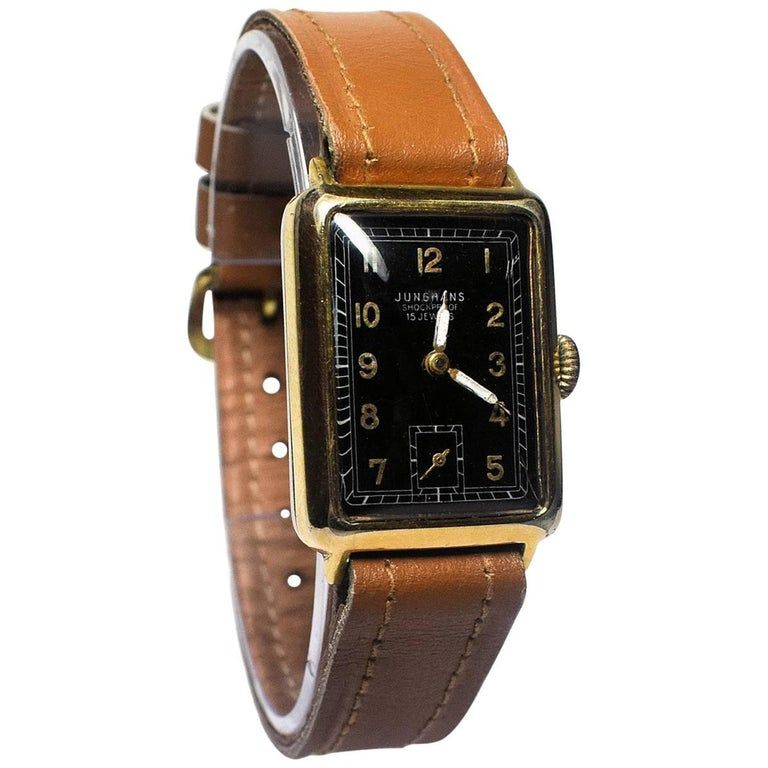 Art deco 1930s mans watch by junghans watches for men