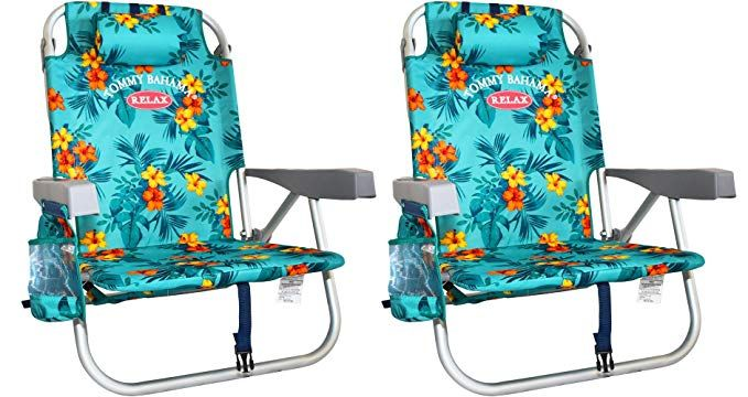 tommy bahama backpack cooler chair blue tattoo chairs 2 with storage pouch and towel bar turquoise review