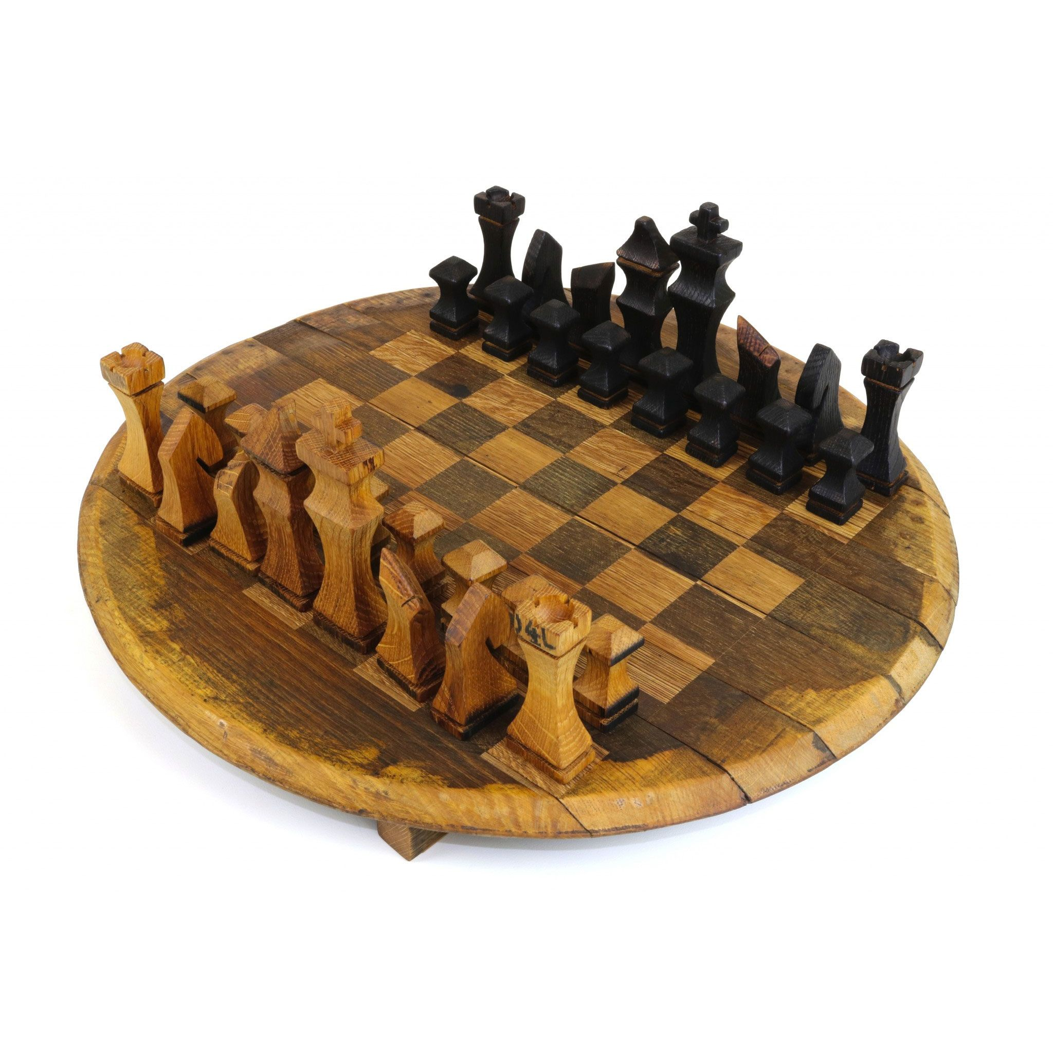 enjoyable ideas cheap chess sets. The Bourbon Barrel Chess Set is made of 100  used and reclaimed barrels An eco friendly art piece that will be loved enjoyed by both Whiskey lovers