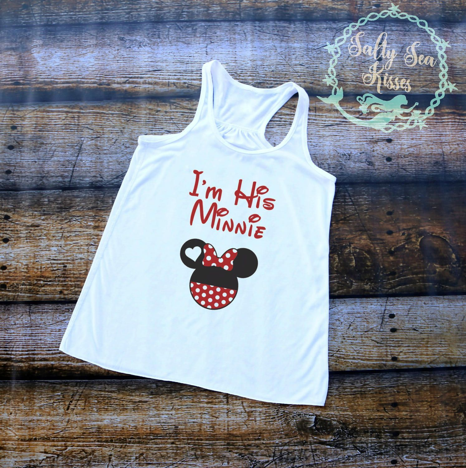 I'm His Minnie Women's Tank Top- Minnie Mouse Tank Top- Disney World Women's Tank Top by SaltySeaKisses on Etsy