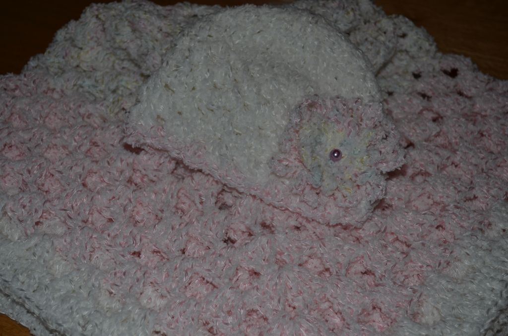 Crochet Granny Square Blanket and hat set - for sale over at Crafty Things by T on Facebook