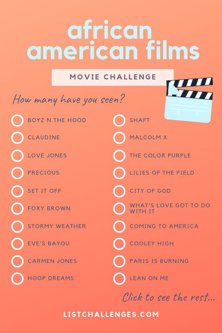 100 mustsee africanamerican films movie to watch list