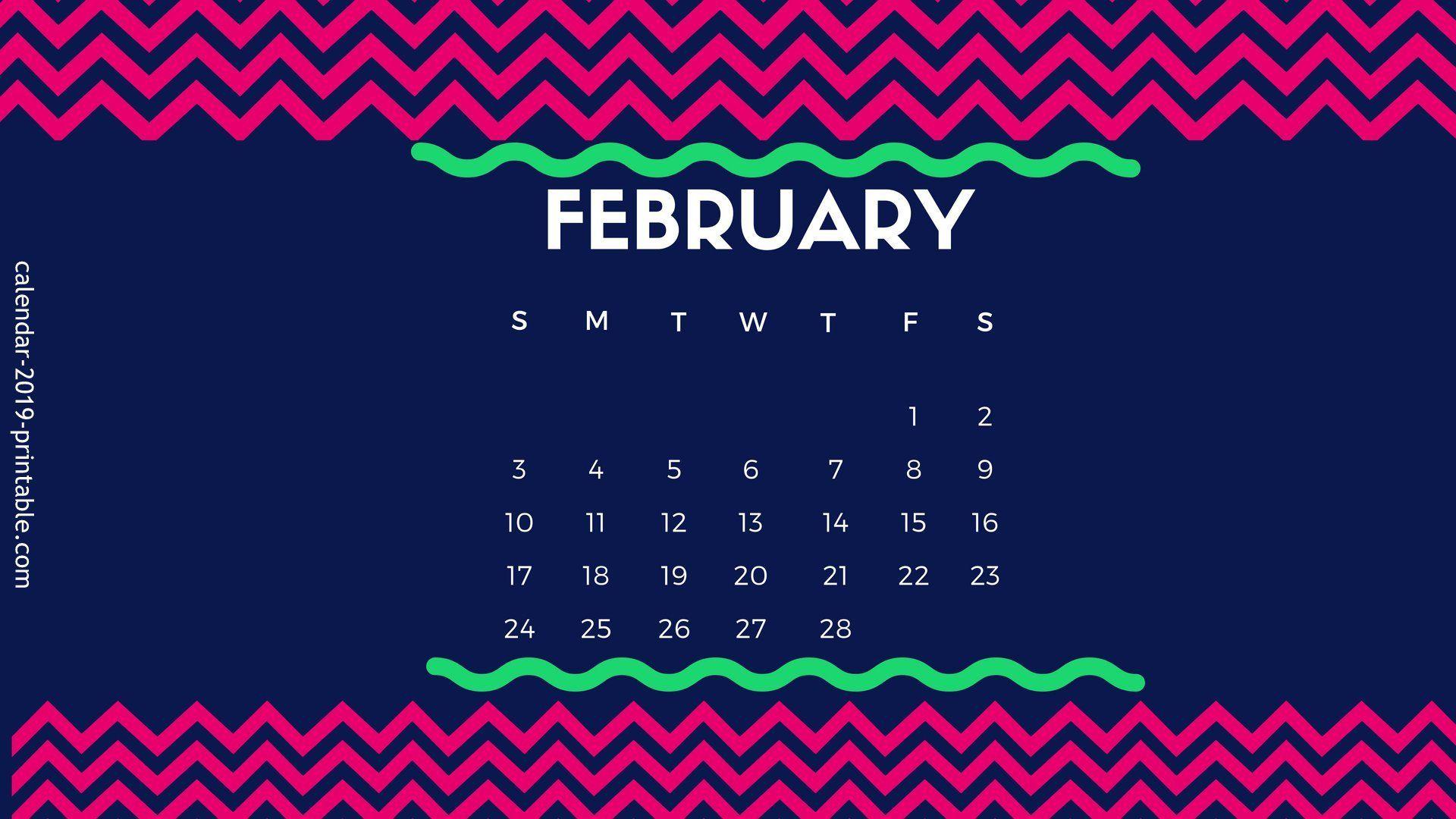 February 2020 Desktop Calendar Wallpaper Desktop Calendar 2019
