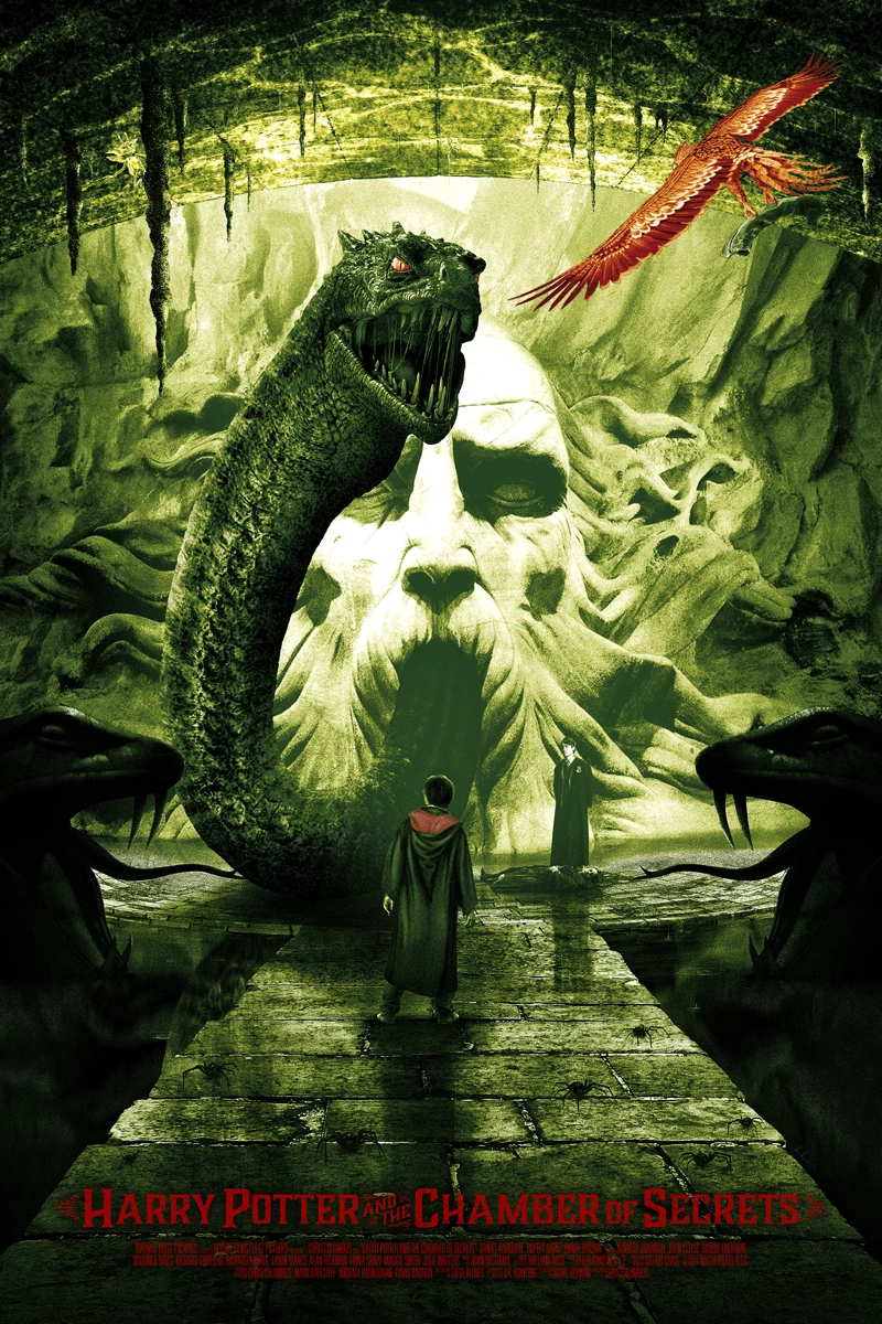 Harry Potter And The Chamber Of Secrets By Kevin M Wilson Ape Meets Girl Basilisk Harry Potter Harry Potter Pictures Harry Potter Poster